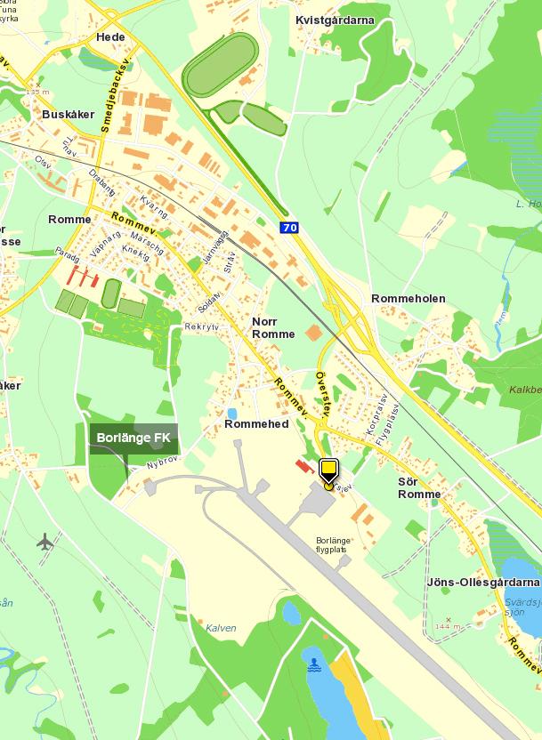 Karta Borlange.Kontakt Tuna Aero Pilotutbildning Vid Dala Airport Borlange